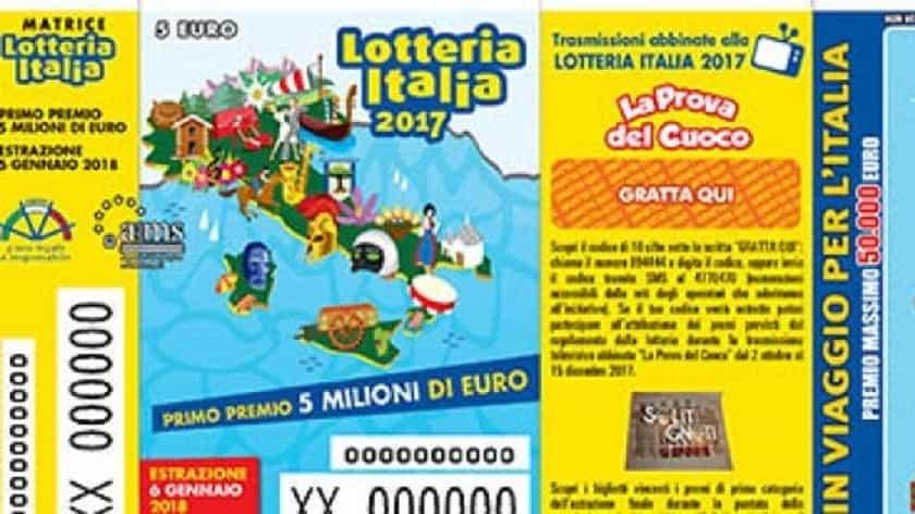 Lotteria Italia 2018: i biglietti vincenti