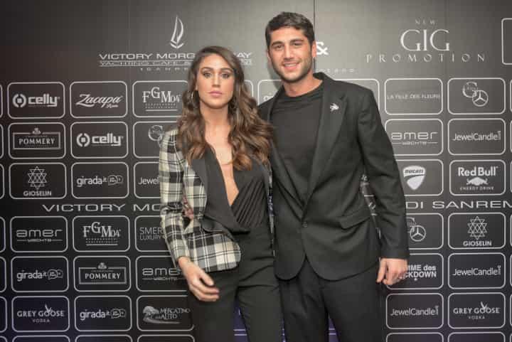 Cecilia e Jeremias Rodriguez: Sanremo 2018, all'Opening Party sfilata di vip