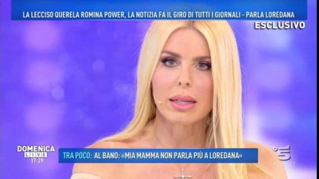 Domenica Live: Loredana Lecciso ha parlato della crisi con Al Bano