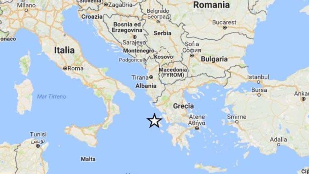 Terremoto: scossa di magnitudo 3.9 al largo di Brindisi