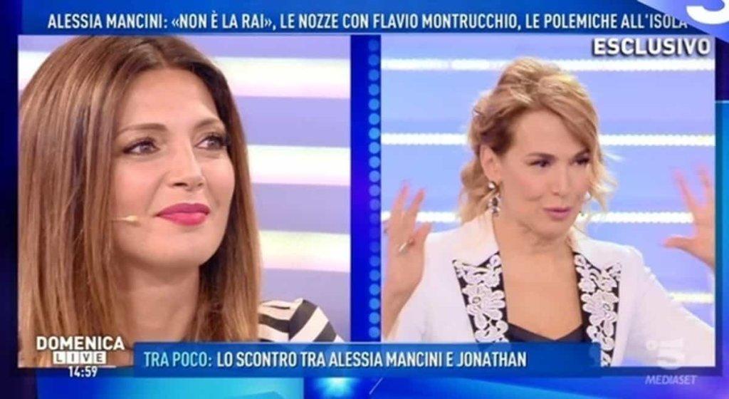 Domenica Live: lite dietro le quinte tra Alessia Mancini, Cecilia Capriotti ed Elena Morali