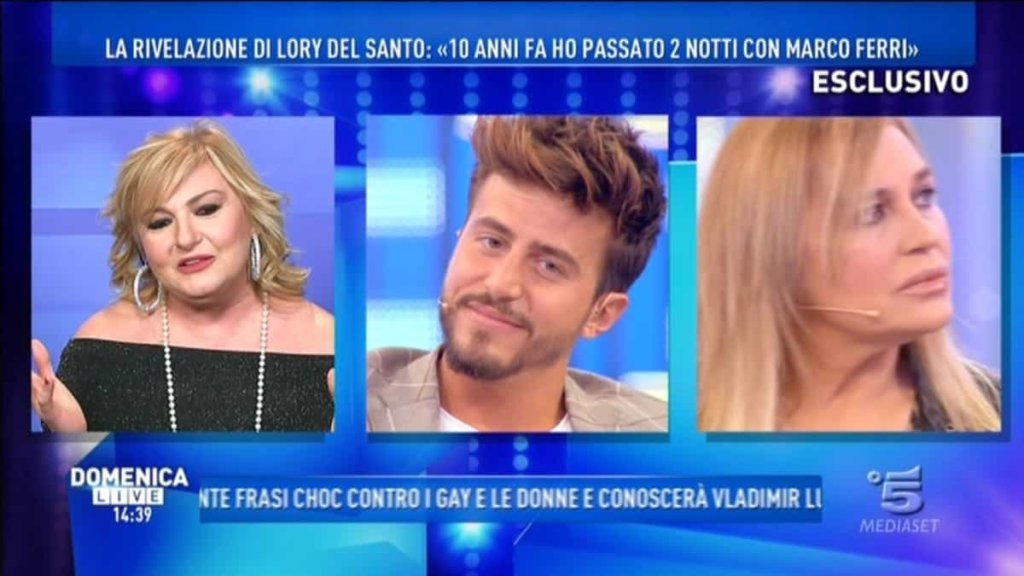 Domenica Live: Marco Ferri ospite da Barbara D'Urso ha chiarito l'incontro a Cannes con Lory Del Santo