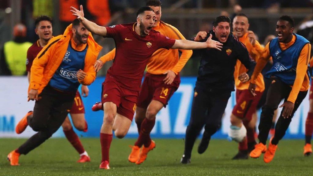 Champions League: la Roma batte 3 a 0 il Barcellona e si qualifica alle semifinali