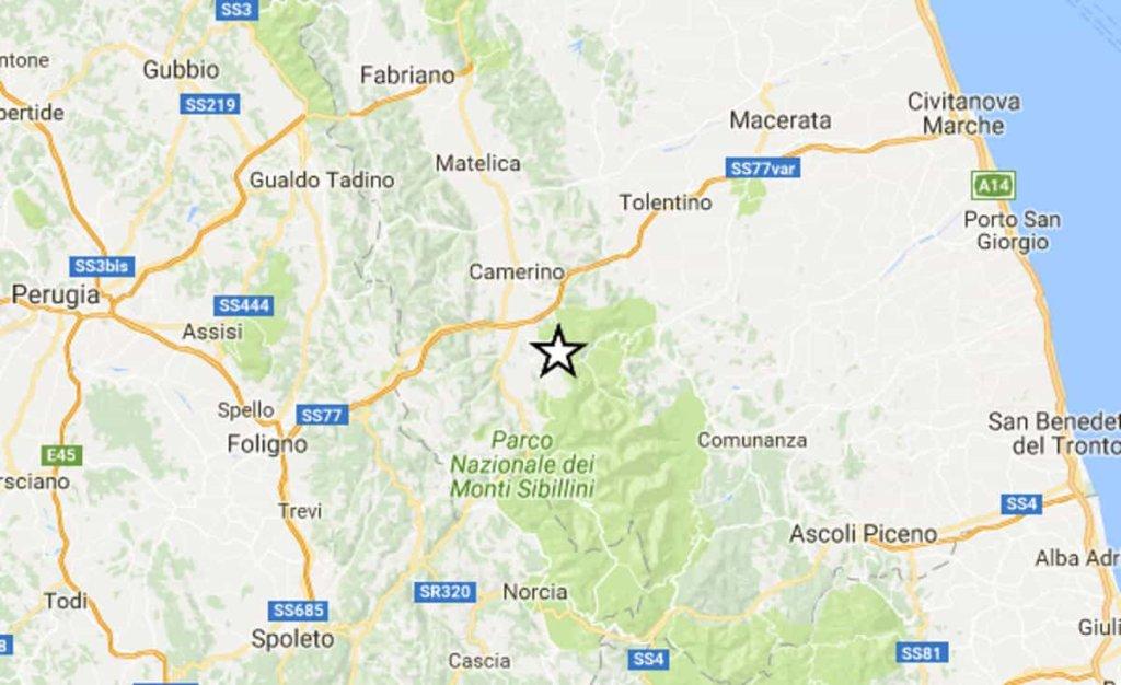 Terremoto: scossa di magnitudo 4.6 nelle Marche, tra Ancona e Macerata