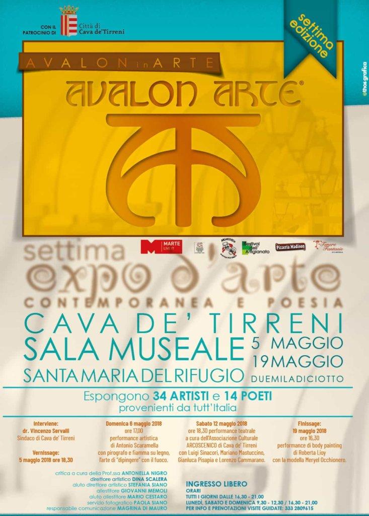 Avalon in Arte: al via la settima edizione dell'Expo d'Arte dal 5 al 19 maggio 2018 a Cava de' Tirreni