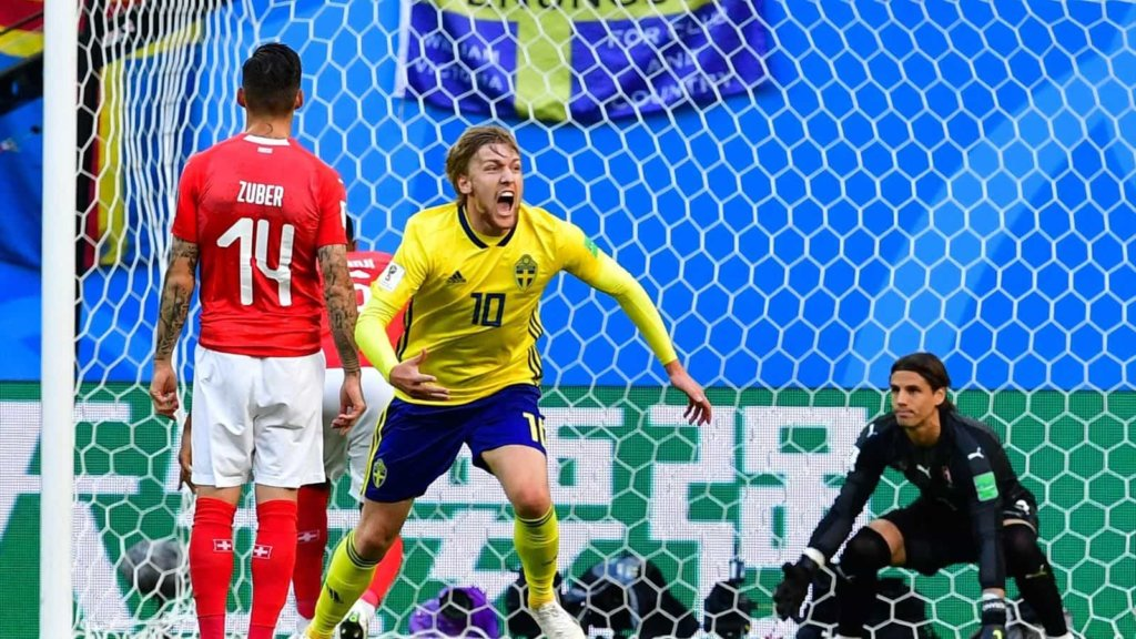 Mondiali Russia 2018: Svezia batte 1-0 la Svizzera e si qualifica ai quarti di finale