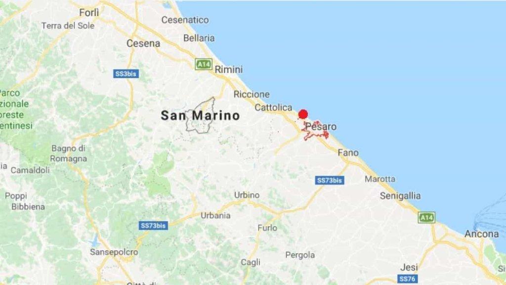 Terremoto, scossa di magnitudo 3,7 nelle Marche, al largo di Pesaro