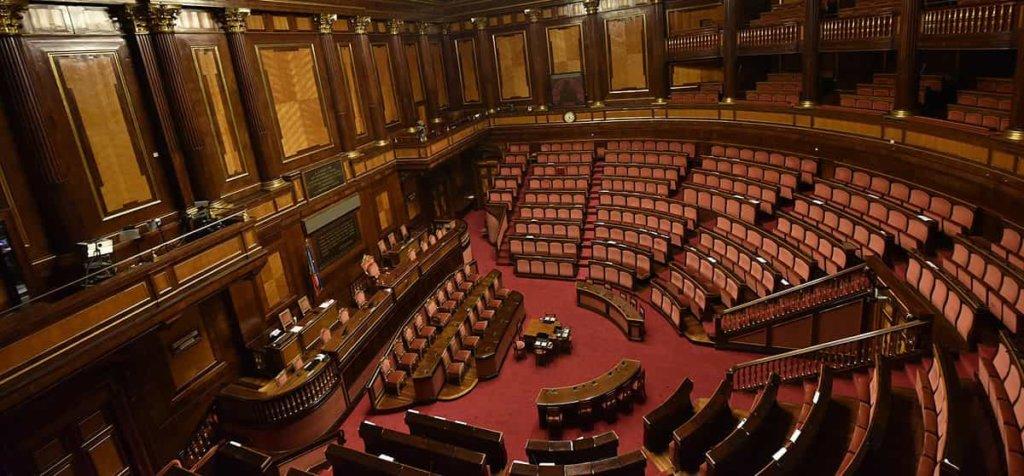 """Visita al Senato e l'evento """"Omaggio al teatro""""con Margherita Buy e Serena Autieri"""
